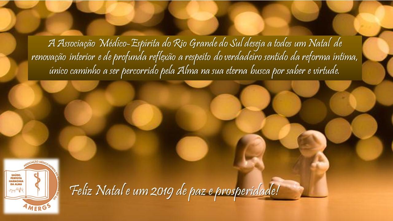 Feliz Natal e um 2019 de paz e prosperidade!