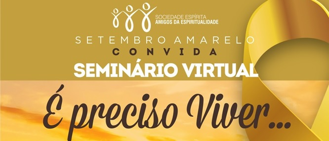 Setembro Amarelo Convida para Seminário Virtual