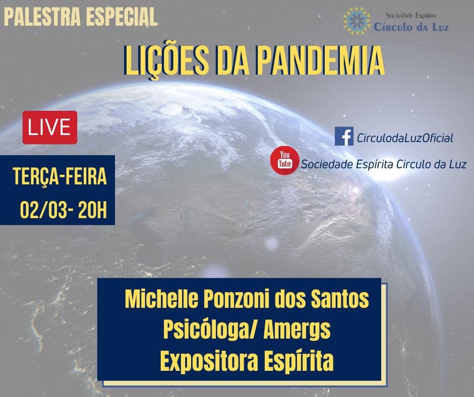 Palestra Lições da Pandemia, com Michelle Ponzoni