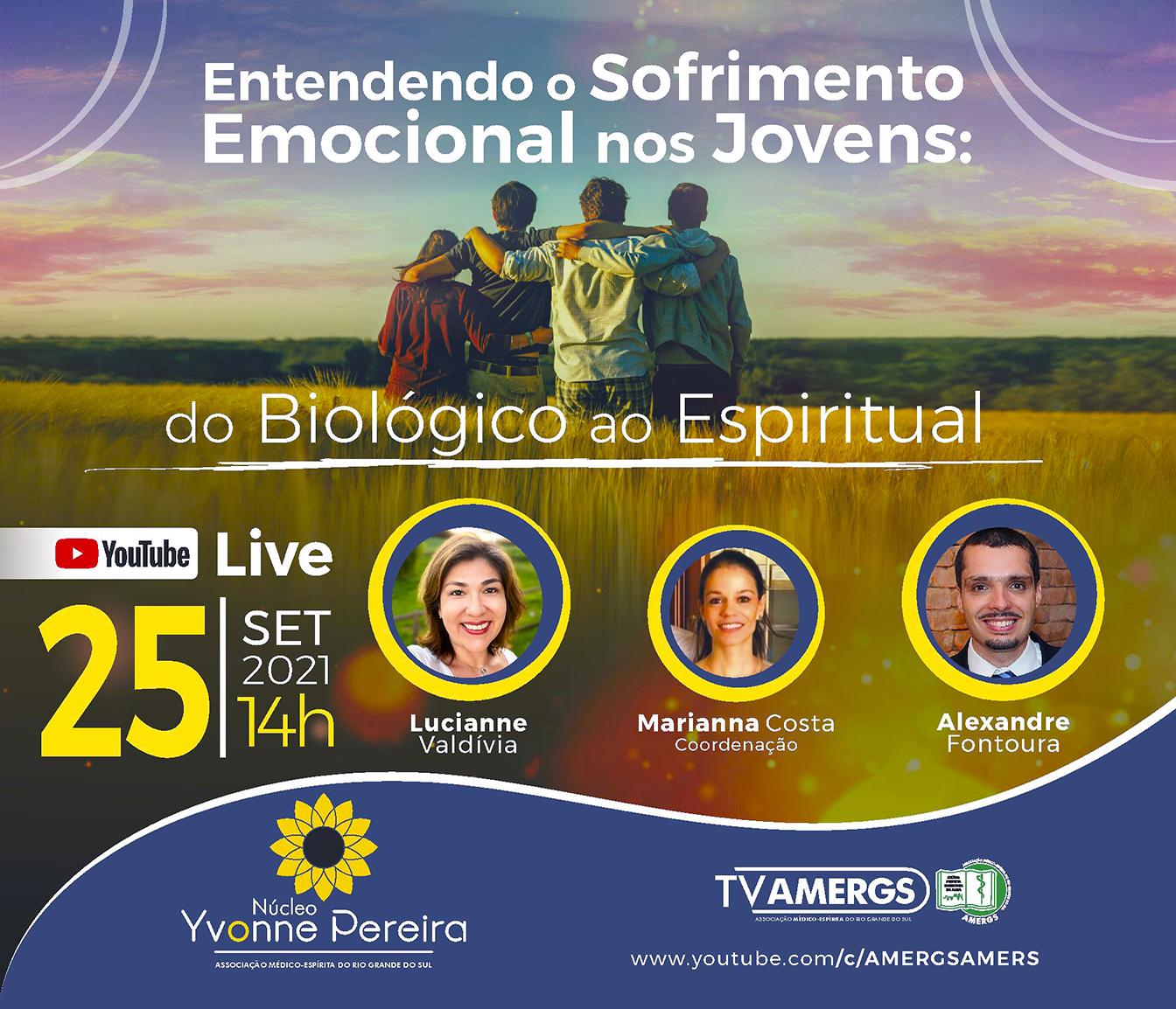 Live: Entendendo o Sofrimento Emocional nos Jovens: do Biológico ao Espiritual